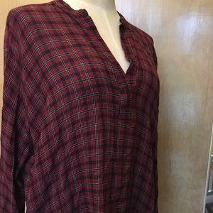 Zara plaid tunic top